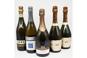 Case of 5x Sparkling Wine 750ml Bottles Including Lindeman's Reserve Pinot Noir Chardonnay, Grant Burge Pinot Noir Chardonnay and More