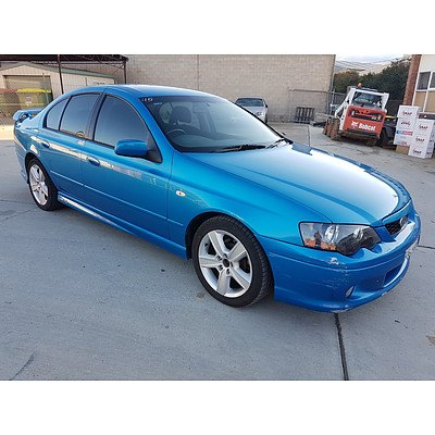 5/2003 Ford Falcon XR6 BA 4d Sedan Blue 4.0L