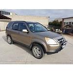 12/2003 Honda Crv (4x4) MY03 4d Wagon Brown 2.4L