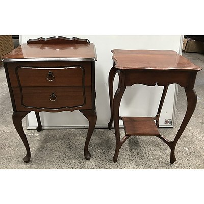 Antique Style Side Tables -Lot Of Two