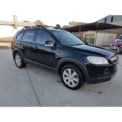 8/2007 Holden Captiva LX (4x4) CG 4d Wagon Black 2.0L