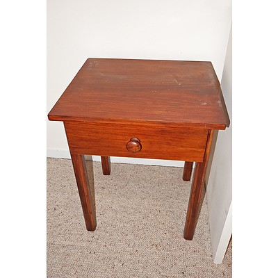 Stained Pine Side Table