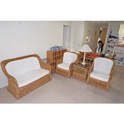 Retro Cane Lounge Suite
