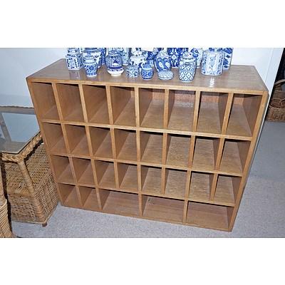 Ash Pigeon Hole Cabinet