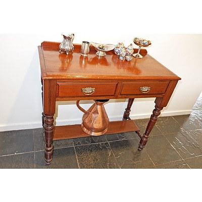 Antique Cedar Hall Table