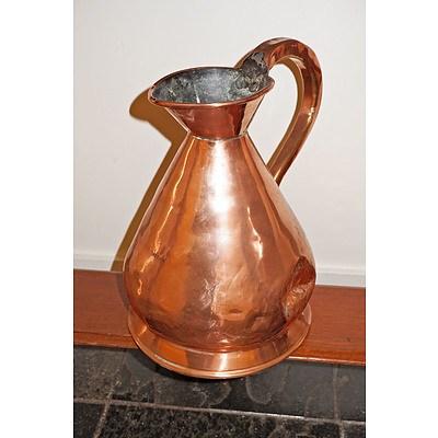 Antique Copper One Gallon Measure
