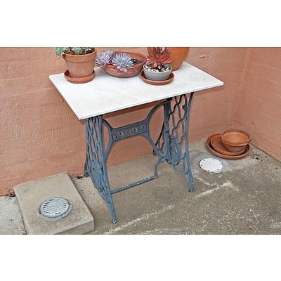 Marble Top Wardana Sewing Table