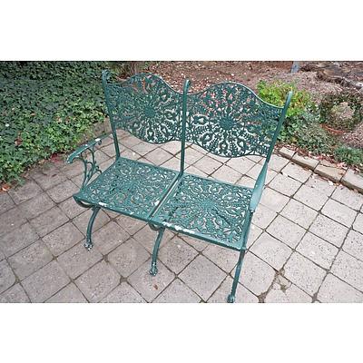Coalbrookdale Style Cast Alloy Garden Bench