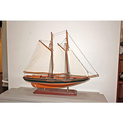 Vintage Model of a Sailing Boat