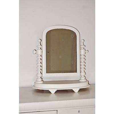 Painted Antique Toilet Mirror