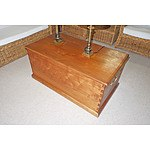 Large Teak Chest with Dovetail Joints