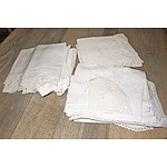Various Antique and Vintage Linen and Lace