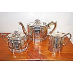 James Dixon & Sons Silver Plated Tea Set, Late 19th Century
