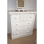 Painted Antique Kauri Pine Chest of Drawers