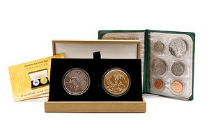 Singapore Double Joy Coin Set and XII Commonwealth Games Brisbane 1982 Coin Set