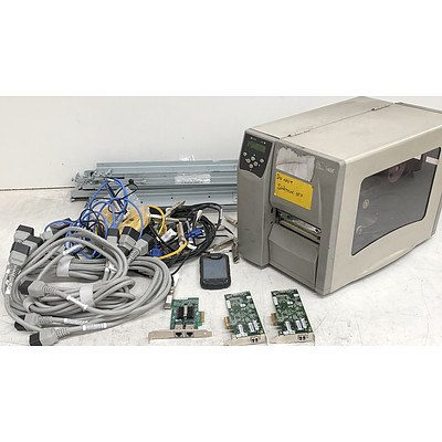Bulk Lot of Assorted IT Equipment - Rugged Phone, Industrial Printer & Cables