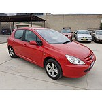 3/2003 Peugeot 307 2.0  5d Hatchback Red 2.0L