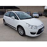2/2010 Citroen C4 Exclusive MY09 5d Hatchback White 1.6L