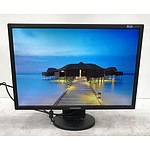 "Dell UltraSharp (2001FP) and Samsung SyncMaster (2243BW) 20"" and 22"" LCD Monitors - Lot of Four"