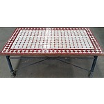 Rustic Mosaic Tiled Outdoor Coffee Table