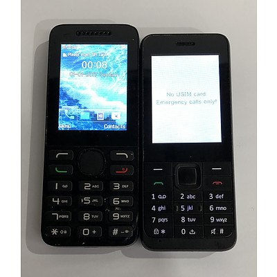 Telstra ZTE (F327S) WCDMA Mobile Phone & Optus (2038X) GSM Mobile Phone
