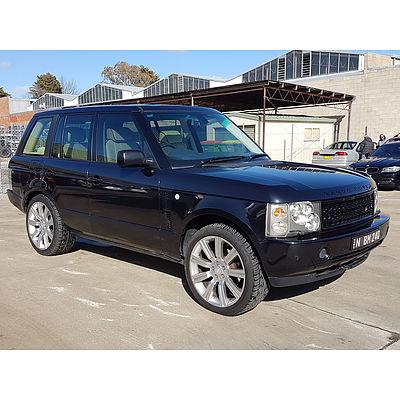 11/2002 Range Rover Range Rover Vogue V8 4d Wagon Black 4.4L
