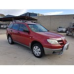 3/2006 Mitsubishi Outlander LS ZF MY06 4d Wagon Red 2.4L