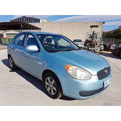 9/2007 Hyundai Accent 1.6 MC 4d Sedan Blue 1.6L