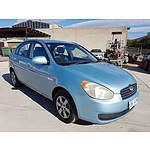 9/2007 Hyundai Accent 1.6 MC 4d Sedan Blue 1.6L