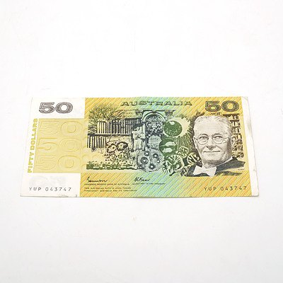 Australian Johnston / Fraser $50 Note, YUP043747