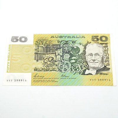 Australian Phillips / Fraser $50 Note, YYT399914