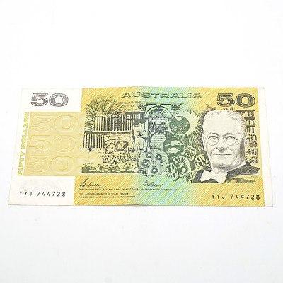 Australian Phillips / Fraser $50 Note, YYJ744728