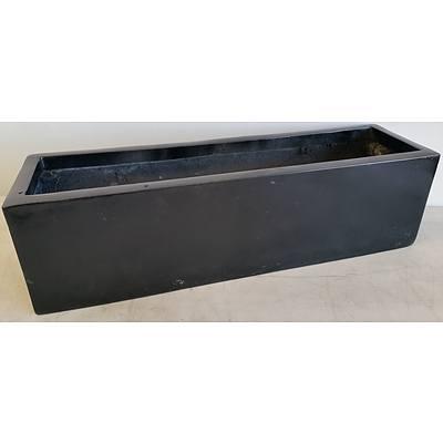 73cm Black Fiberglass Desk/Bench Top Planter Trough