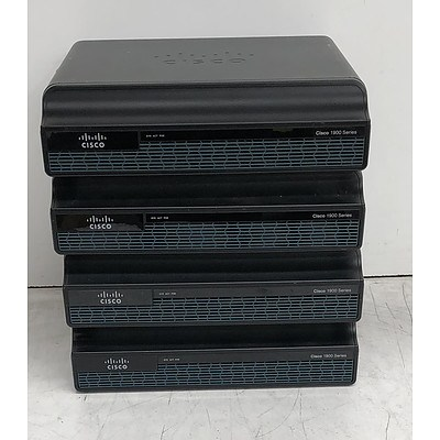 Cisco (CISCO1941/K9 V02) 1900 Series Integrated Services Router - Lot of Four
