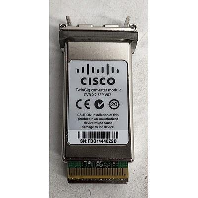 Cisco (CVR-X2-SFP=) CVR-X2-SFP TwinGig Converter Module - Lot of 25