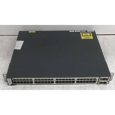 Cisco Catalyst (WS-C3750E-48PD-S V03) 3750-E Series PoE-48 48-Port Gigabit Managed Switch