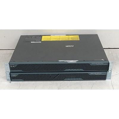 Cisco ASA5550-K8 V02 & ASA5510 V06 Adaptive Security Appliances - Lot of Two