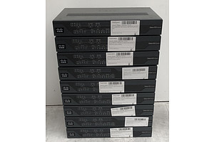 Cisco (C887VAG+7-K9 V01) 800 Series Routers - Lot of Nine