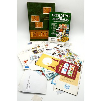 Renniks Stamps of Australia Reference Book, Stamp Album and a Group International Stamps and Letters