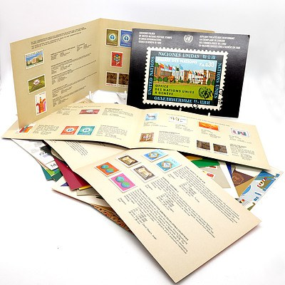 Group of United Nations Souvenir Stamp Folders, Circa 1970