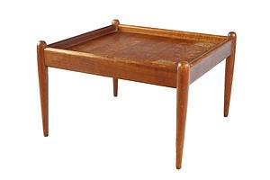 1960s Teak Table with Cigar Legs, Possibly Parker