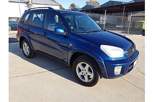 11/2000 Toyota Rav4 Cruiser (4x4) ACA21R 4d Wagon Blue 2.0L