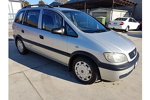 8/2003 Holden Zafira  TT 4d Wagon Silver 2.2L