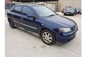 10/2001 Holden Astra CITY TS 5d Hatchback Blue 1.8L