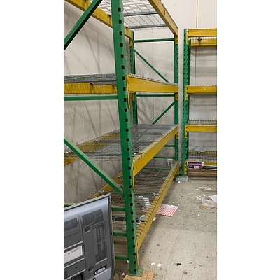 13 Bays Of Slide & Lock Pallet Racking