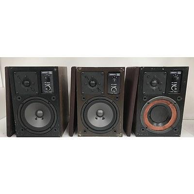 Audiosound 80 Series Motet 8011B Speakers -Lot Of Three