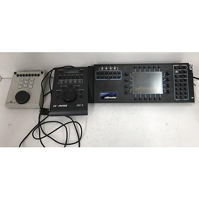 AV Control Panels -Lot Of Three