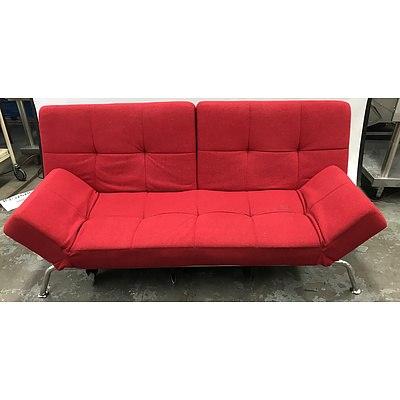 Red Click-Clack Sofa Bed