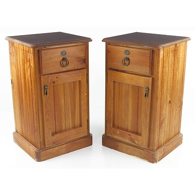 Pair of Reproduction Bedside Cabinets Made by Bounty Furniture 1978