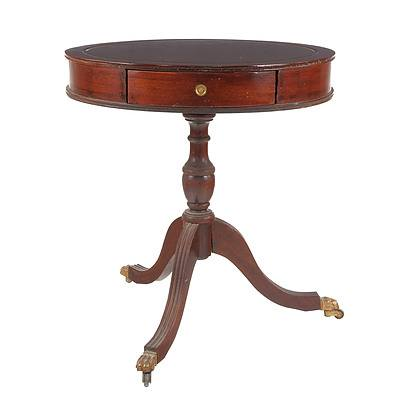 Regency Style Side Table with Drawers, Late 20th Century